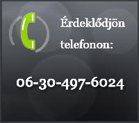 Érdeklődjön telefonon!
